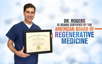 Dr. Christopher Rogers is now board certified in Regenerative Medicine by the American Board of Regenerative Medicine