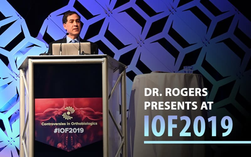 Dr. Christopher Rogers Presents at the Interventional Orthopedics Foundation in Denver, CO