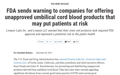 Avoid Unapproved Umbilical Cord and Exosome Products