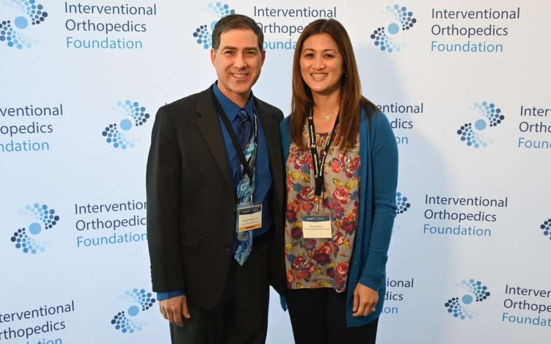 Dr. Chris Rogers and Dr. Mary Ambach at the Interventional Orthopedics Foundation Scientific Meeting