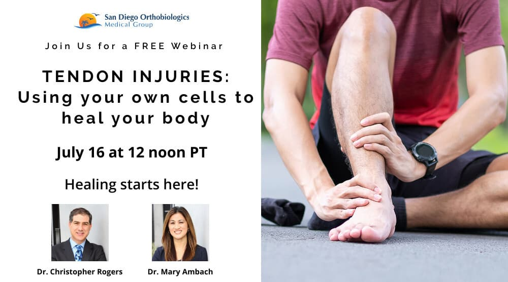 FREE Webinar on Tendon Injuries: Using Your Own Cells to Heal Your Body