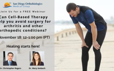 Can Cell Based Therapy Help You Avoid Surgery for Arthritis and Other Orthopedic Conditions?