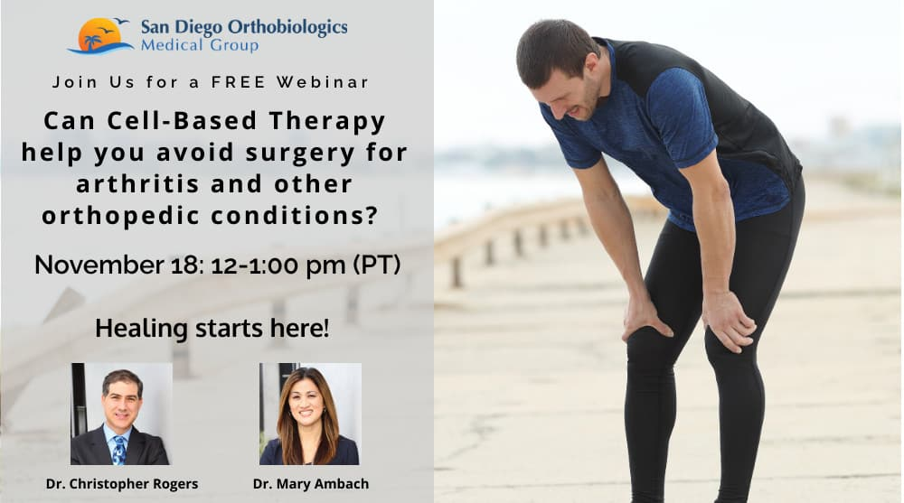 Osteoarthritis Webinar for Non Surgical Treatment Options