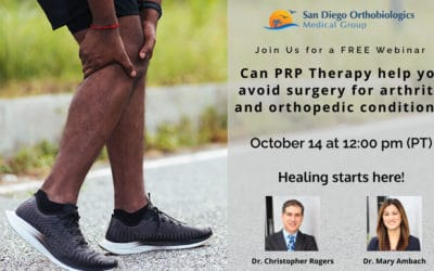 Can PRP Therapy Help Avoid Surgery For Arthritis and Orthopedic Conditions?