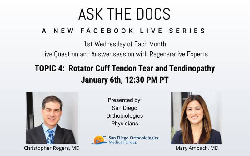 ASK THE DOCS: Facebook Live Series