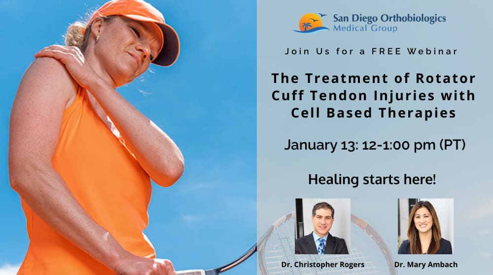 rotator cuff tendon treatment webinar SDOMG