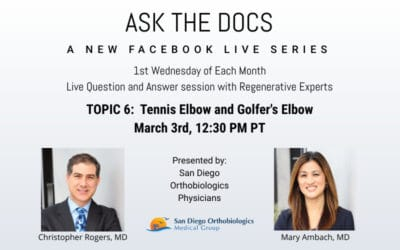 Ask the Docs: Tennis Elbow and Golfer's Shoulder