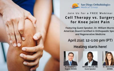FREE Webinar: Cell Therapy vs. Surgery for Knee Joint Pain