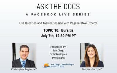 Ask the Docs: Bursititis