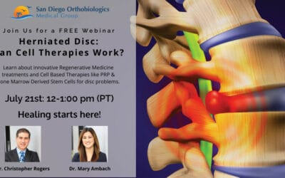 FREE Webinar: Herniated Disc – Can Cell Therapies Help?